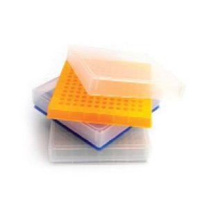 PP krabičky s mřížkou na 12 x 12ks PCR mikrozkumavek 0,2 ml
