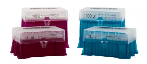 Špičky s filtrem v krabičkách, sterilní